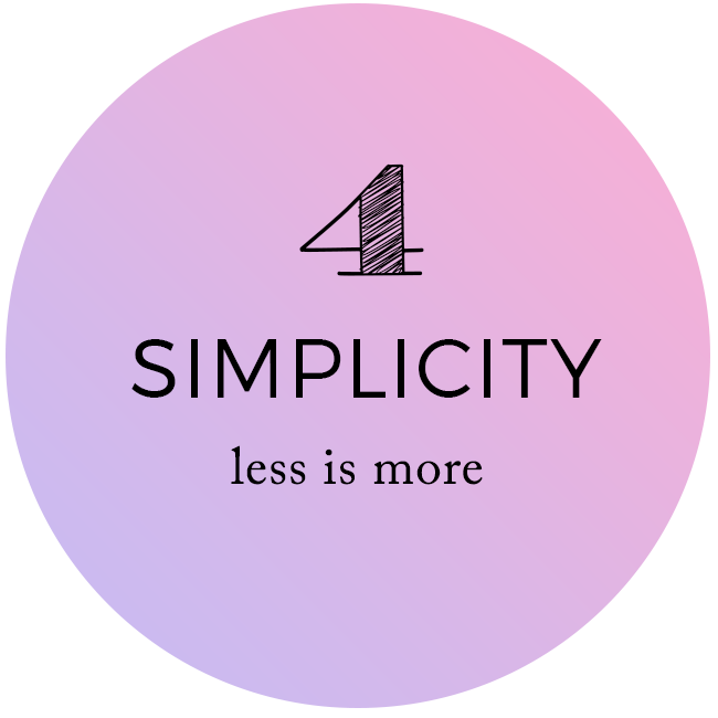 Simplicity - Less is More